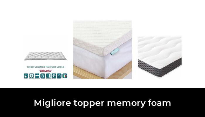Topper memory foam alto 4 cm con rivestimento Teflon Antimacchia